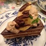 35403677 - チョコバナナショートケーキ(アフターヌーンティーセット上段)