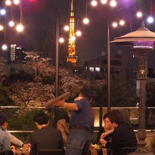 花見・東京タワーを眺めながらお食事!