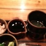 手打古式蕎麦 - ツユは大根のおろし汁と醤油です