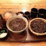 手打古式蕎麦 - 古式蕎麦と山揚げ蕎麦のセット(共に小です)