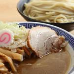 大勝軒〇秀 - 野菜つけ麺(写真は大盛り)
