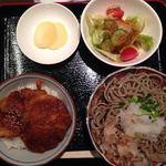 ソバーズ - おろしそば+ミニソースかつ丼 900円(食後のコーヒー付)