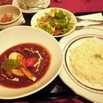 シシリアンルージュ札幌 - ビーフシチューセット+デザート&コーヒー