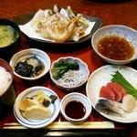 よしはら - 天ぷら定食 税込1000円