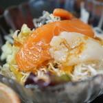 福寿司 - サラダにも海鮮が♪