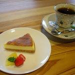 ポモドーロ - チーズケーキセット 600円