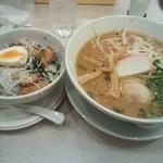 芝のらーめん屋さん - 料理写真:和歌山ラーメン+チャーシュー丼