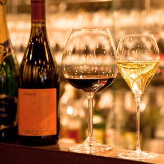 グラスワインは常時20種をご用意