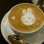 Monkashetto - 可愛いウサギのカプチーノ
