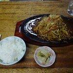 山ちゃんラーメン - スタミナ皿うどん、小ご飯