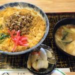 青柳亭 - シジミ丼、味噌汁と
