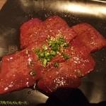 35434195 - 新鮮塩レバー焼き。                       お値段は800円。(2015/2/14)