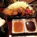 35434962 - 牛ロースカツ膳(¥950)