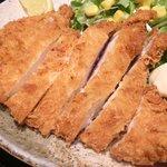 ぽん輔 - 鳥取県産大山鶏カツ定食(ムネ肉) 500円