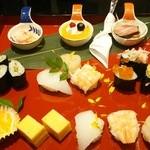 にぎり長次郎 - 冬のミニ寿司プレート 950円