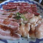 肉道楽いろは - お昼のセットのお肉