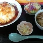 松園 - 天津飯セット大盛り(890円)