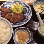 青葉苑 - 牛たんご膳(牛たん作り直し)