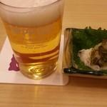 天重 - キリンラーメンとお通し 2015.2