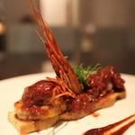 ヴィア トスカネッラ - メイン魚:エビとタコとムール貝