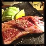 牛ざんまい - 三角バラ肉  脂ギュッシュでおいちーʚ◡̈⃝ɞ