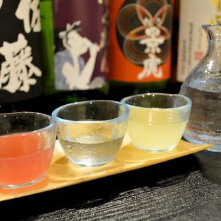 地酒・本格焼酎・レア焼酎・日本酒etc・・50種類以上。