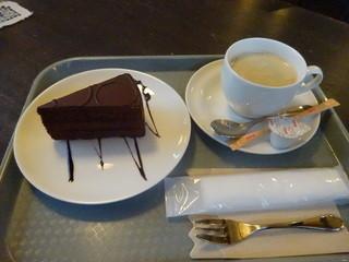 元町茶寮 - チョコケーキ コーヒー