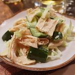 マダムリン 台北 - 湯葉と胡瓜の和え物