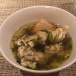 なすび亭 - 牡蠣と青海苔