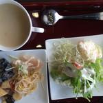たくし屋 - ランチ(サラダ・スープ・など)