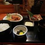 三福 - メインは牡蛎フライや、鰆