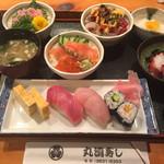 丸清寿司 - 小鉢と思いきや全部主食(笑)