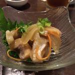 地魚と百日地鶏 大 - 鯵の南蛮漬け