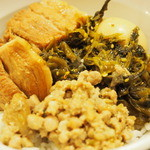 秀味園 - 800えん『魯肉飯セット(魯肉飯・ワンタンスープ・杏仁豆腐)』2015年3月