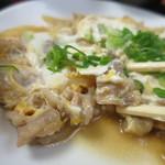一富士食堂 - 2014.2日替りの牛肉玉子とじ定食