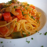 GARDEN CAFE LIFETIME - 自家製チョリソーとたっぷり野菜のカポナータのスパゲティ