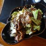 大元 - 豚肉とキャベツの味噌炒め