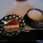 35478389 - 本日のケーキとミルクティー