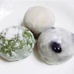 美土里屋 - 草餅、丹波の黒豆大福、栗大福(2015.2月)