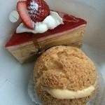 アルドゥール - 苺ミルクレープとシュー・ア・ラ・クレーム