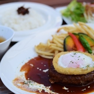 time after time - 料理写真:淡路牛のハンバーグランチ