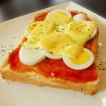 モンディアルカフェ328 - エッグピザトースト