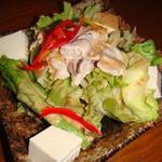 35488893 - とんしゃぶと豆腐のごまドレッシングサラダ