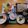 増田屋 - 料理写真:本日のランチ(ささみの梅しそフライとオムレツ うどん又はそば付き)
