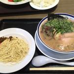 田中商店 - 「らーめん」820円と「替玉」100円