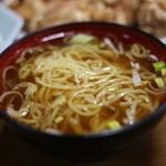桂林 - 唐揚げ定食にはスープではなくミニラーメンが♪