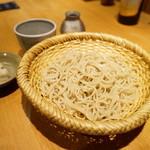 酒庵 田なか - もり蕎麦(並)・・ワサビは使わず、辛味大根で・・