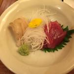 酒菜庵藤右衛門 - ヒラメとマグロのお刺身