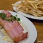 魚介ビストロ sasaya BYO - 厚切りベーコンのせポテトサラダ・ポテトフライ【2015年2月】