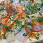 魚介ビストロ sasaya BYO - メリメロカルパッチョ(L)【2015年2月】